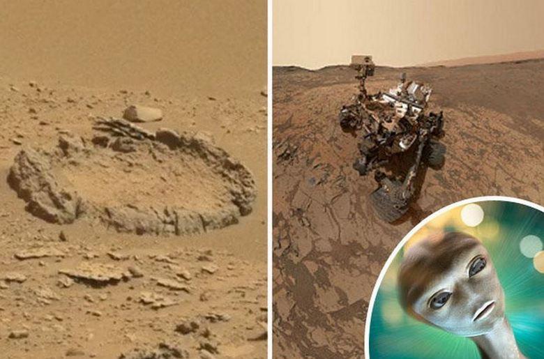 Идеальный «каменный круг» на Марсе вызвал массу вопросов