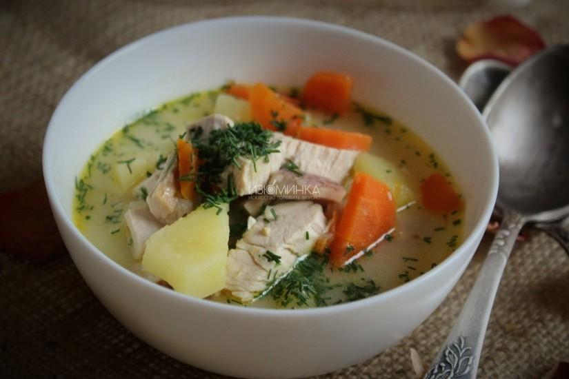 Суп с мясом в мультиварке