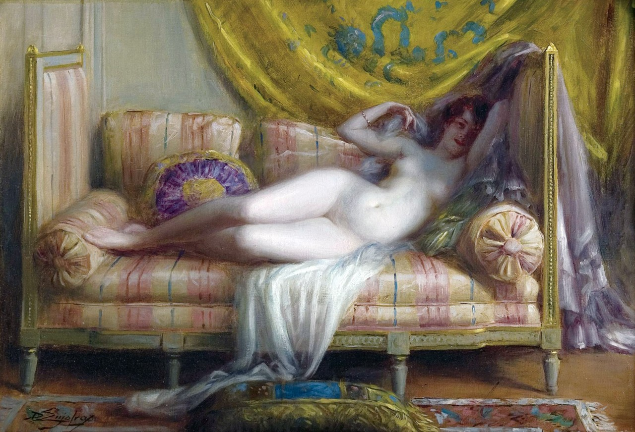Французский живописец  Дельфин Энджолас в большой картинной галереи его работ  (1857-1945)