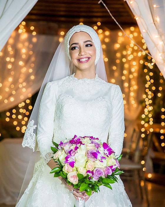 Мусульманские девушки в день свадьбы