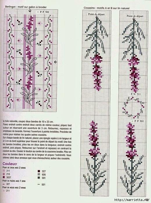 Схемы вышивки ЛАВАНДЫ (4) (519x700, 340Kb)