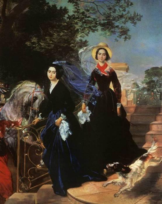 Брюллов Портрет сестер Шишмаревых 1839 (555x700, 54Kb)