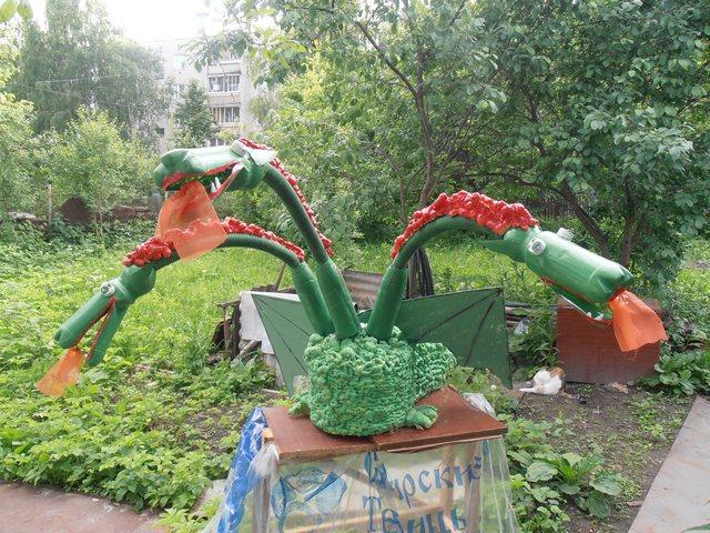 Как сделать змею своими руками для сада