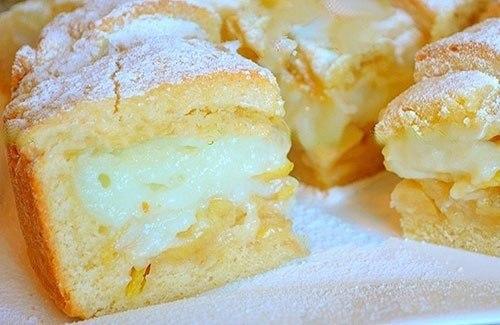 Вкуснейший яблочный пирог с заварным кремом