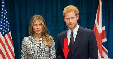 Принц Гарри поставил всех на уши жестом на встрече с Меланией Трамп. Когда камера опустится ниже, ты поймешь, о чём речь