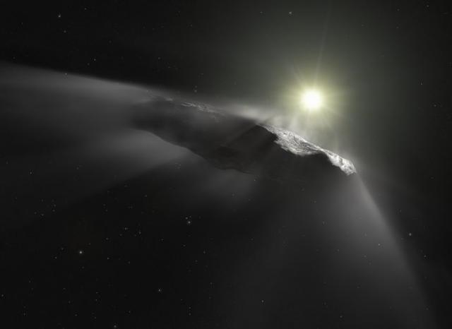 Загадочный межзвездный объект Оумуамуа резко ускорился