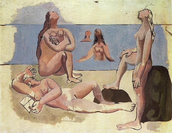 Пабло Пикассо. Купальщицы, глядящие на самолет [Пять купальщиц]. 1920 год