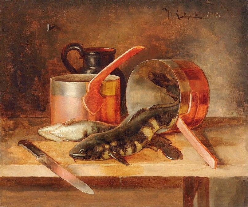 Беседа живописца с натурой... Русский художник Юлий Клевер (сын)