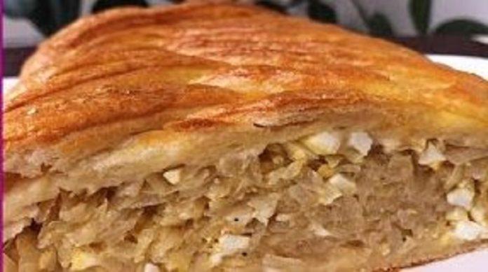 Очень вкусный капустный пирог с яйцами