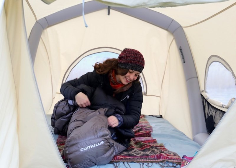 Представлена первая надувная автопалатка авто, надувная, палатка