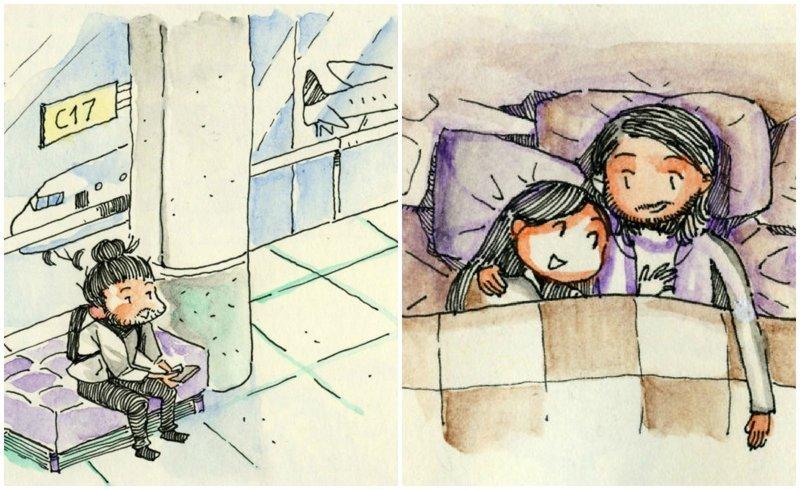 Итальянец прилетел в Торонто на первое свидание, и нарисовал об этом крутой комикс Любовь, история, комикс, любовь на расстоянии, рисунки, романтика, творчество, художник