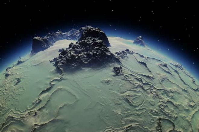 Высочайшая скала в Солнечной системе