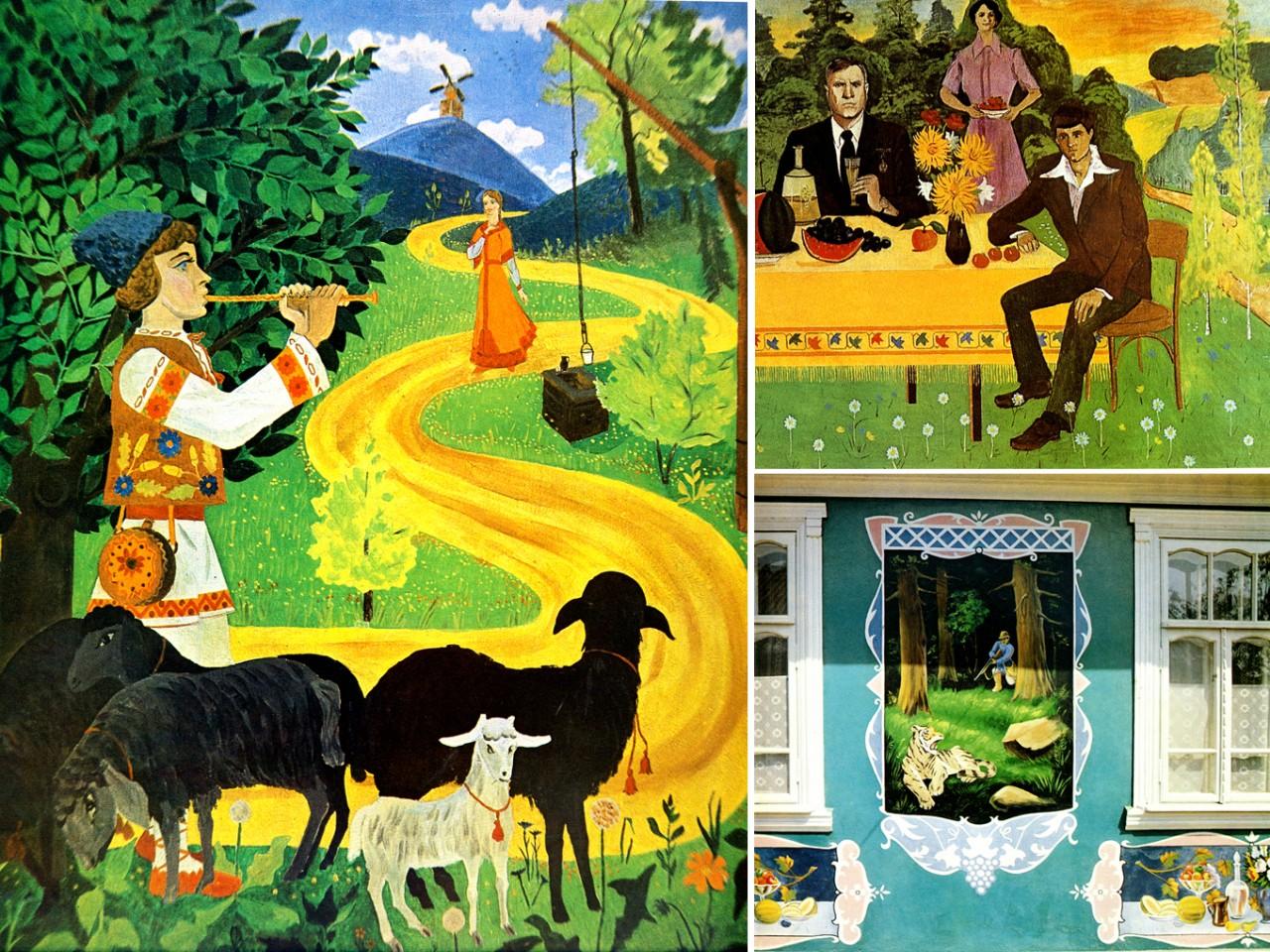 Как разрисовывали сельские дома в Советской Молдавии! Национальное искусство резьбы по штукатурке