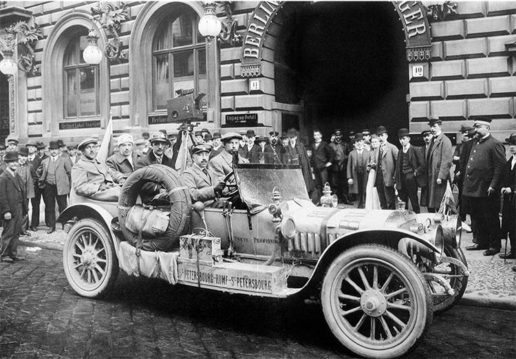 "Автопробег на автомобилях ""Руссо-Балт"" в 1910 году"