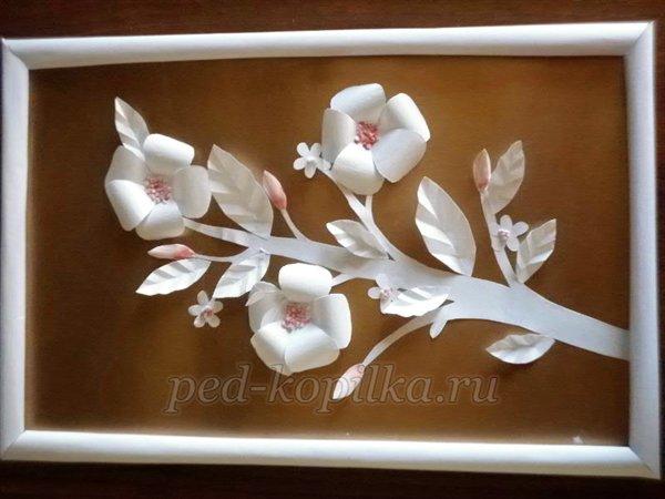 поделки из белой бумаги цветы видео