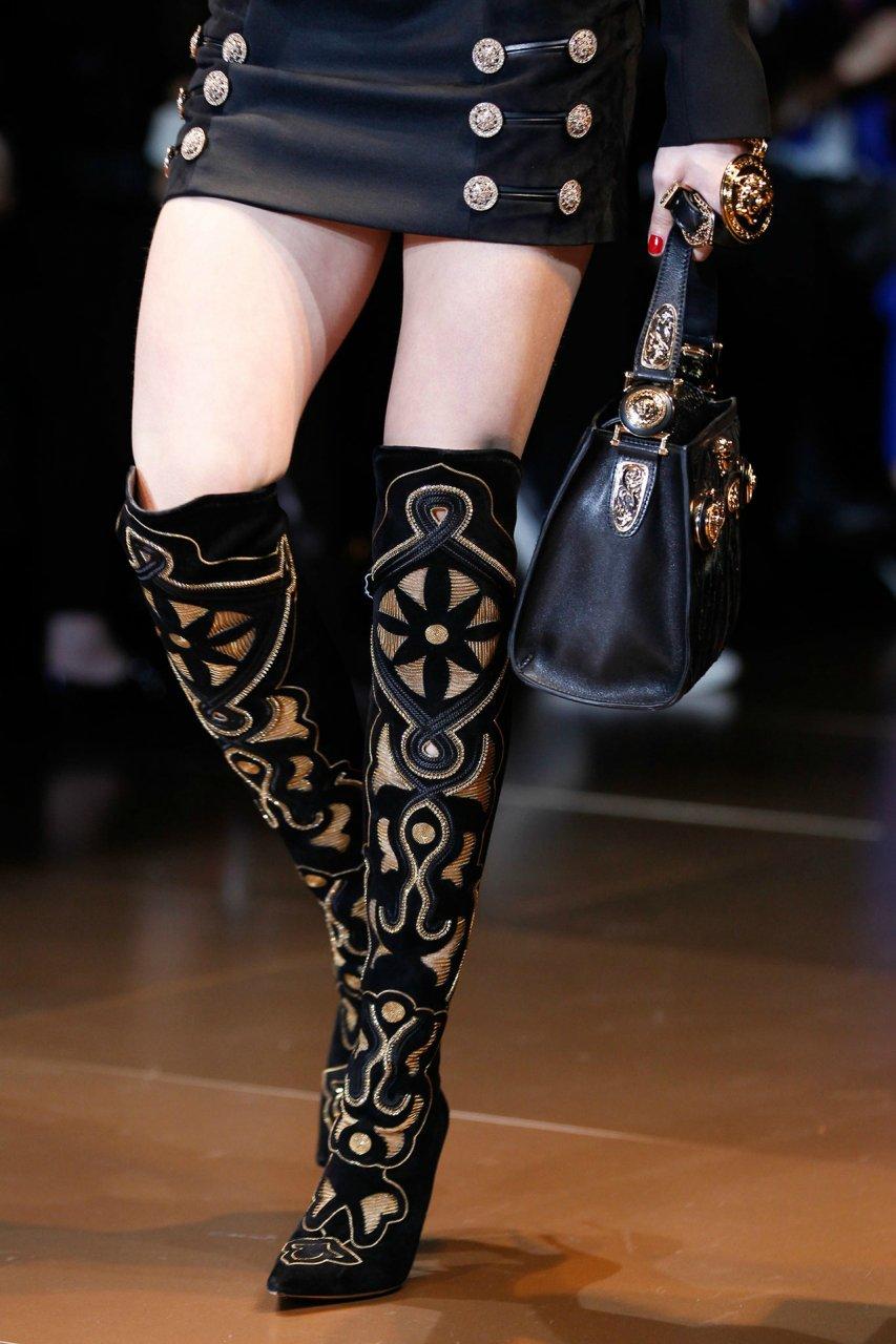 ДЕТАЛИ Versace осень-зима 2014/2015
