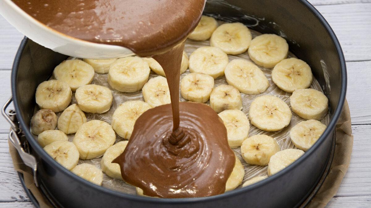 Шоколадно — банановый пирог с ганашем