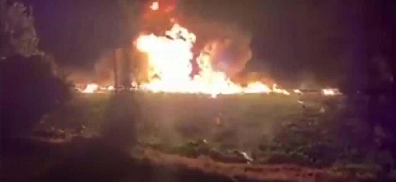 В Сети появились кадры с места взрыва трубопровода в Мексике