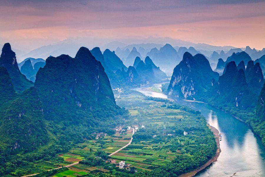 Riverof10 Красивые пейзажи китайской реки поэтов и художников