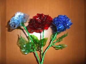 """Розы из пластиковых бутылок"". Мастер-класс."