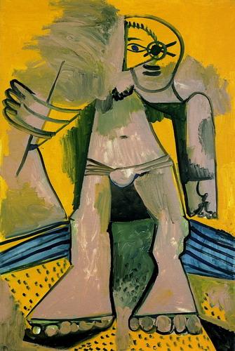 Пабло Пикассо. Стоящая купальщица. 1971 год
