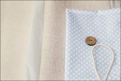 Нежная сумочка из грубой ткани, фото со схемой