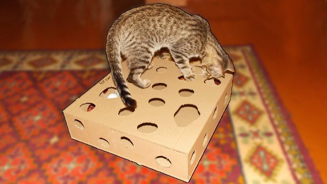 Игрушка для кота из картона своими руками