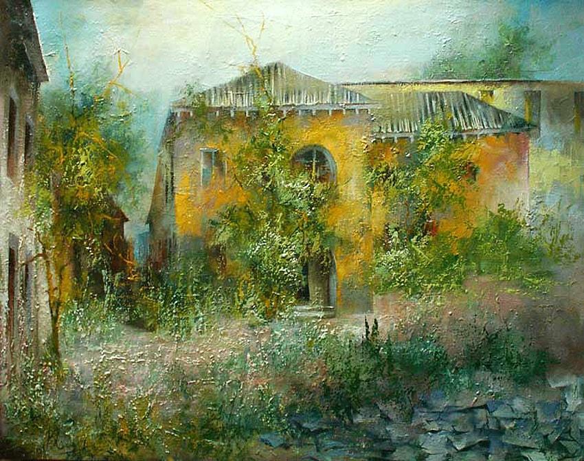 Время по тени сверяя, в город волшебный спешу... Художник Валерий Сидоров