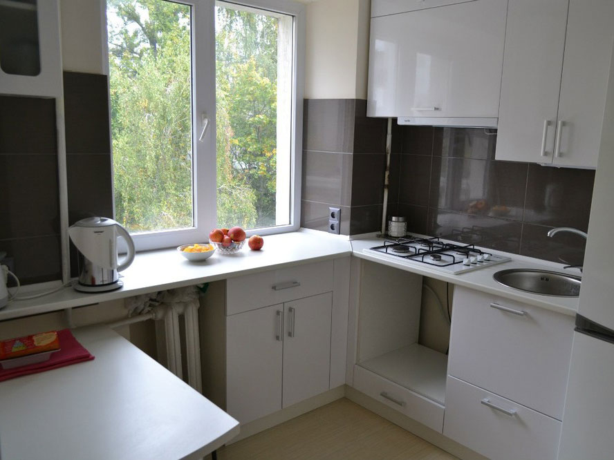 Фото дизайнов кухни в хрущевке 5 кв.м
