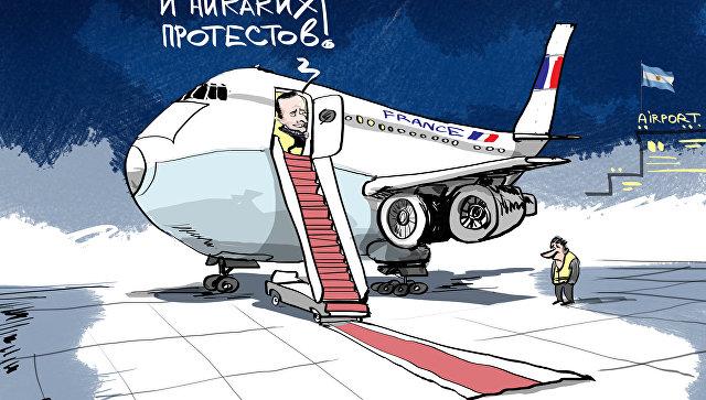 Встреча лидеров стран в аэропорту  Буэнос-Айреса