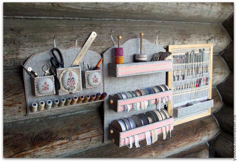 Удобный органайзер для лент и кружев