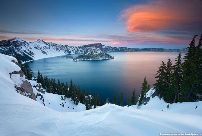 Как выглядят кратерные озера на Земле