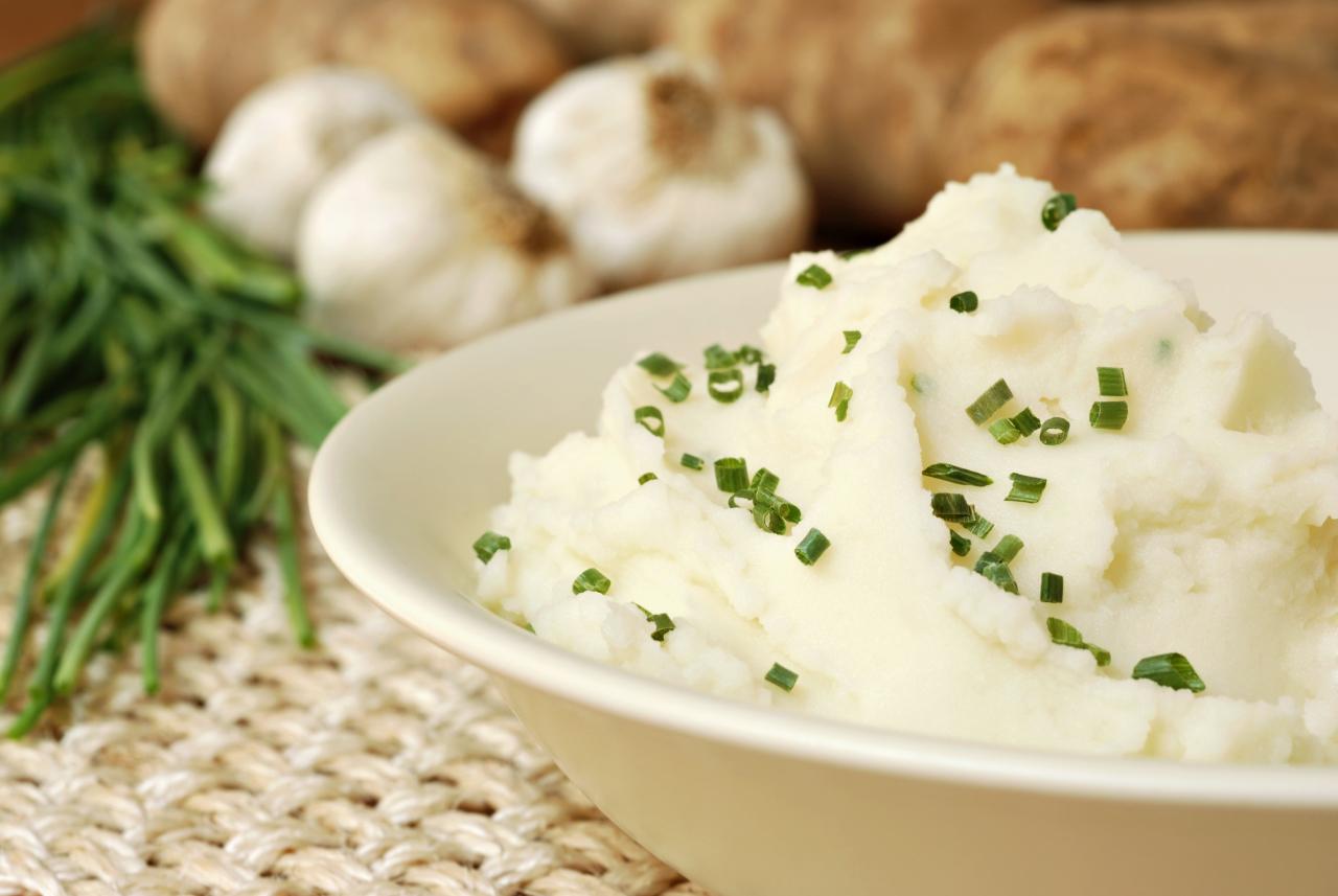 Картофельное пюре на топленом молоке