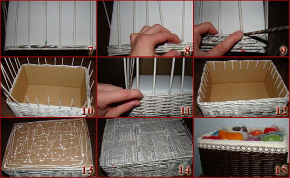 Как сделать корзинку своими руками фото