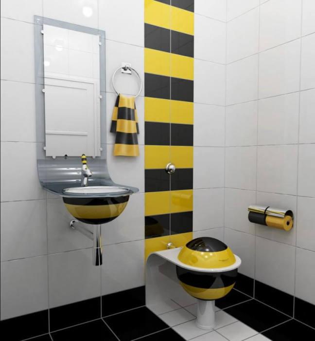 Интерьер туалетной комнаты в квартире.