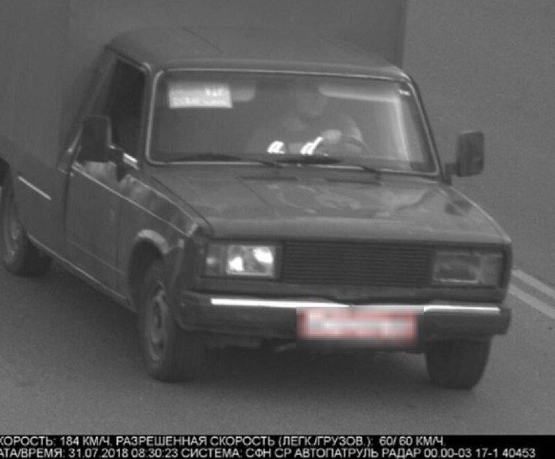 В Астрахани камеры ГИБДД сообщили,что хлебовозка мчалась со скоростью почти 200 км/час