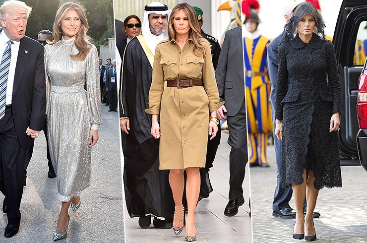 Меланья Трамп в зарубежном турне: 11 безупречных образов первой леди