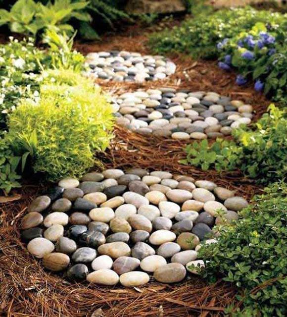 Садовый декор из камня и гальки своими руками
