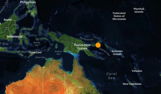 Папуа-Новая Гвинея. Землетрясение магнитудой 6.1