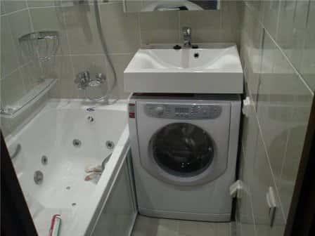 Раковина для установки над стиральной машинкой