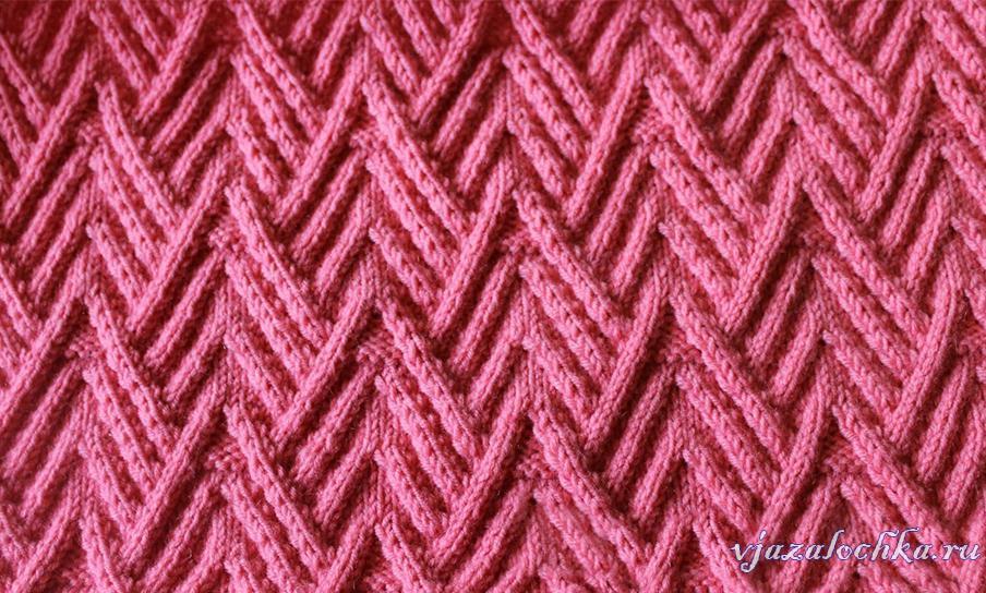 Текстурные узоры на спицах