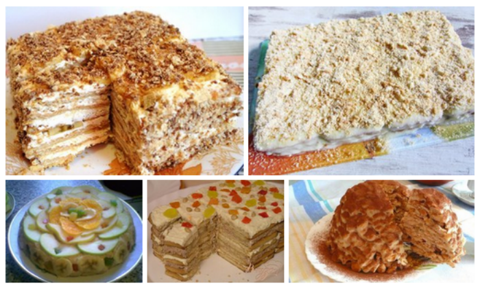ДЕСЕРТНЫЙ ВИХРЬ. Торты из печенья - пять рецептов