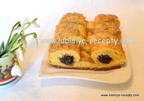 """Венгерский пирог  с вишней """"Кошкины глаза"""""""