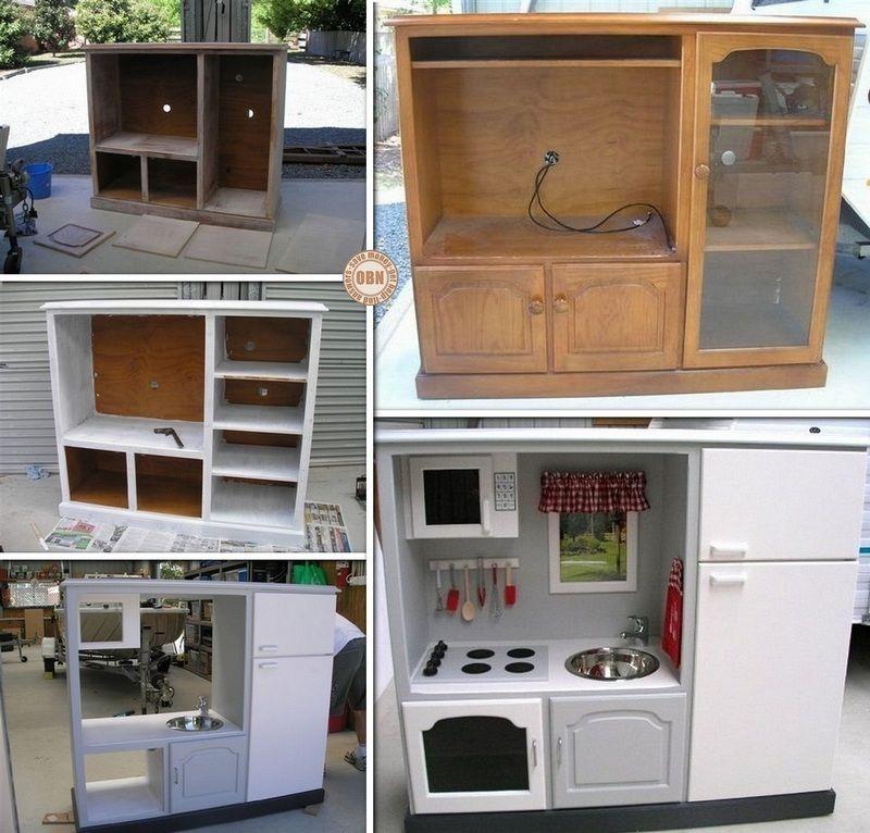Новая кухонная мебель из старой своими руками
