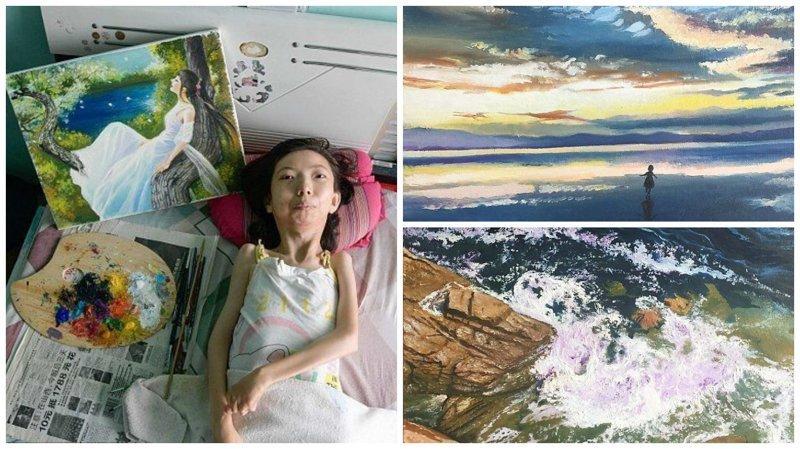 Парализованная китаянка нашла свое призвание в живописи