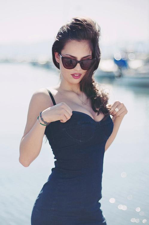 Девушки в Черном девушки, платья, фото