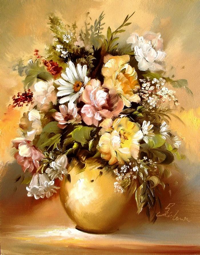 В мире цветов я желала б остаться, художница Szechenyi Szidonia