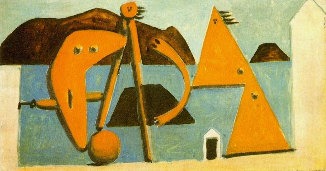 Пабло Пикассо. Купальщицы  на пляже. 1928 год