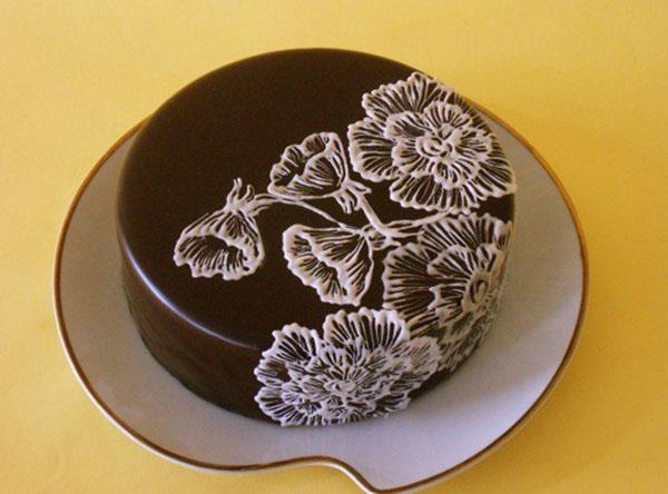 Украшение тортов из шоколада