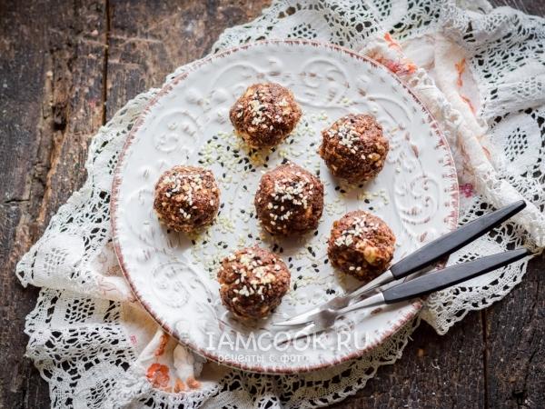 Конфеты из кукурузных палочек и сгущенки — рецепт с фото пошагово